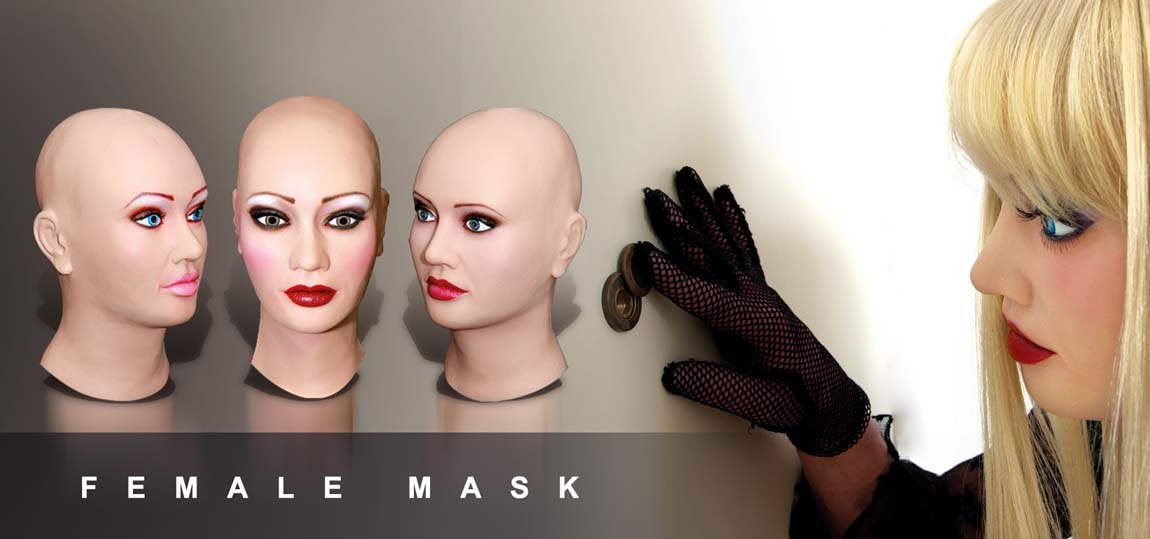 female silicone mask