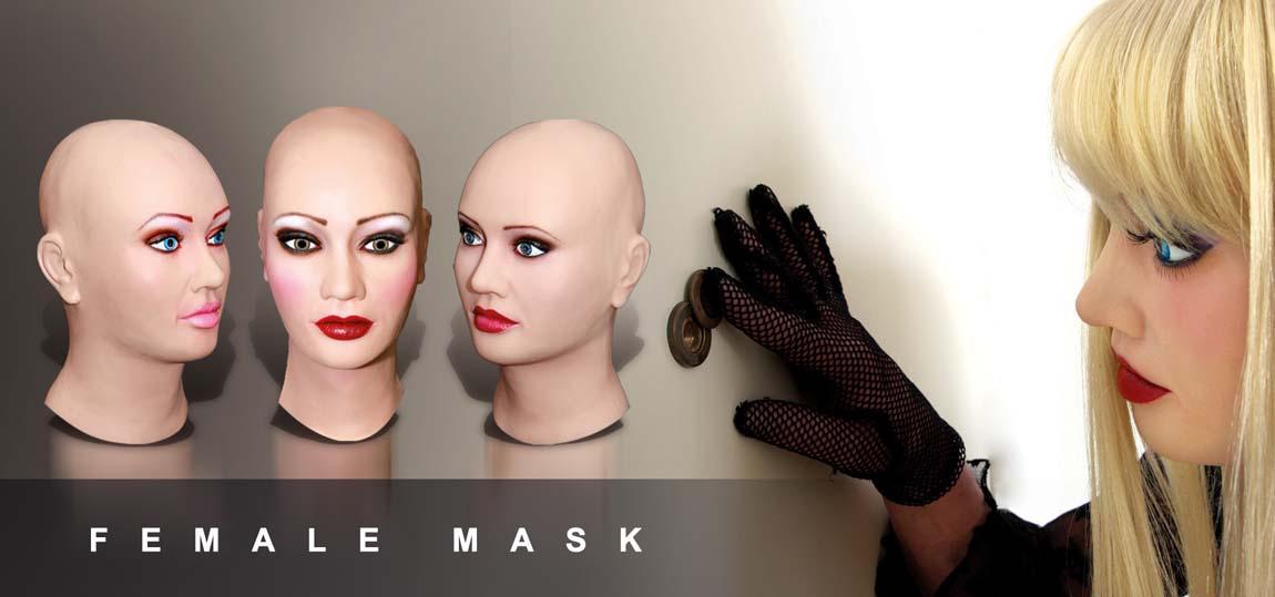 female silicone mask